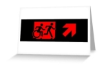 Accessible Exit Sign Project Wheelchair Wheelie Running Man Symbol Means of Egress Icon Disability Emergency Evacuation Fire Safety Greeting Card 87