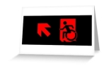 Accessible Exit Sign Project Wheelchair Wheelie Running Man Symbol Means of Egress Icon Disability Emergency Evacuation Fire Safety Greeting Card 88