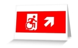 Accessible Exit Sign Project Wheelchair Wheelie Running Man Symbol Means of Egress Icon Disability Emergency Evacuation Fire Safety Greeting Card 9