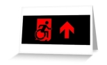 Accessible Exit Sign Project Wheelchair Wheelie Running Man Symbol Means of Egress Icon Disability Emergency Evacuation Fire Safety Greeting Card 97