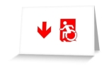 Accessible Exit Sign Project Wheelchair Wheelie Running Man Symbol Means of Egress Icon Disability Emergency Evacuation Fire Safety Greeting Card 99