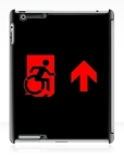 Accessible Exit Sign Project Wheelchair Wheelie Running Man Symbol Means of Egress Icon Disability Emergency Evacuation Fire Safety iPad Case 100