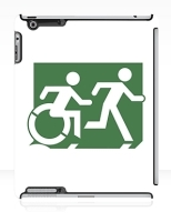 Accessible Exit Sign Project Wheelchair Wheelie Running Man Symbol Means of Egress Icon Disability Emergency Evacuation Fire Safety iPad Case 101