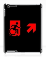 Accessible Exit Sign Project Wheelchair Wheelie Running Man Symbol Means of Egress Icon Disability Emergency Evacuation Fire Safety iPad Case 105