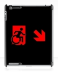 Accessible Exit Sign Project Wheelchair Wheelie Running Man Symbol Means of Egress Icon Disability Emergency Evacuation Fire Safety iPad Case 106
