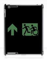 Accessible Exit Sign Project Wheelchair Wheelie Running Man Symbol Means of Egress Icon Disability Emergency Evacuation Fire Safety iPad Case 108