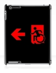 Accessible Exit Sign Project Wheelchair Wheelie Running Man Symbol Means of Egress Icon Disability Emergency Evacuation Fire Safety iPad Case 110