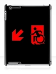 Accessible Exit Sign Project Wheelchair Wheelie Running Man Symbol Means of Egress Icon Disability Emergency Evacuation Fire Safety iPad Case 112