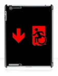 Accessible Exit Sign Project Wheelchair Wheelie Running Man Symbol Means of Egress Icon Disability Emergency Evacuation Fire Safety iPad Case 113