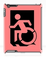 Accessible Exit Sign Project Wheelchair Wheelie Running Man Symbol Means of Egress Icon Disability Emergency Evacuation Fire Safety iPad Case 114