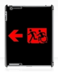 Accessible Exit Sign Project Wheelchair Wheelie Running Man Symbol Means of Egress Icon Disability Emergency Evacuation Fire Safety iPad Case 115
