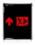 Accessible Exit Sign Project Wheelchair Wheelie Running Man Symbol Means of Egress Icon Disability Emergency Evacuation Fire Safety iPad Case 116