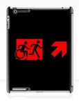 Accessible Exit Sign Project Wheelchair Wheelie Running Man Symbol Means of Egress Icon Disability Emergency Evacuation Fire Safety iPad Case 119