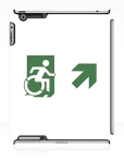 Accessible Exit Sign Project Wheelchair Wheelie Running Man Symbol Means of Egress Icon Disability Emergency Evacuation Fire Safety iPad Case 120