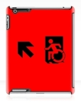 Accessible Exit Sign Project Wheelchair Wheelie Running Man Symbol Means of Egress Icon Disability Emergency Evacuation Fire Safety iPad Case 12