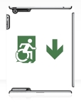 Accessible Exit Sign Project Wheelchair Wheelie Running Man Symbol Means of Egress Icon Disability Emergency Evacuation Fire Safety iPad Case 122