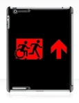 Accessible Exit Sign Project Wheelchair Wheelie Running Man Symbol Means of Egress Icon Disability Emergency Evacuation Fire Safety iPad Case 123