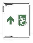 Accessible Exit Sign Project Wheelchair Wheelie Running Man Symbol Means of Egress Icon Disability Emergency Evacuation Fire Safety iPad Case 124