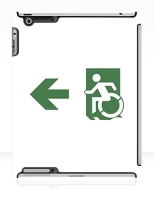 Accessible Exit Sign Project Wheelchair Wheelie Running Man Symbol Means of Egress Icon Disability Emergency Evacuation Fire Safety iPad Case 125