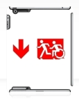 Accessible Exit Sign Project Wheelchair Wheelie Running Man Symbol Means of Egress Icon Disability Emergency Evacuation Fire Safety iPad Case 126