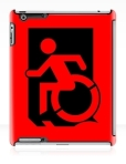 Accessible Exit Sign Project Wheelchair Wheelie Running Man Symbol Means of Egress Icon Disability Emergency Evacuation Fire Safety iPad Case 127