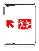 Accessible Exit Sign Project Wheelchair Wheelie Running Man Symbol Means of Egress Icon Disability Emergency Evacuation Fire Safety iPad Case 128