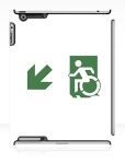 Accessible Exit Sign Project Wheelchair Wheelie Running Man Symbol Means of Egress Icon Disability Emergency Evacuation Fire Safety iPad Case 130