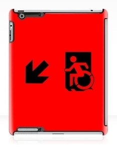 Accessible Exit Sign Project Wheelchair Wheelie Running Man Symbol Means of Egress Icon Disability Emergency Evacuation Fire Safety iPad Case 13