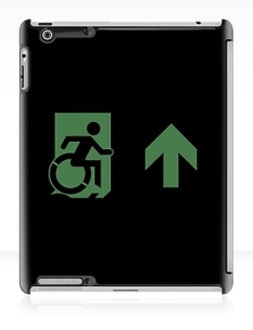Accessible Exit Sign Project Wheelchair Wheelie Running Man Symbol Means of Egress Icon Disability Emergency Evacuation Fire Safety iPad Case 133
