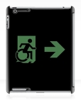 Accessible Exit Sign Project Wheelchair Wheelie Running Man Symbol Means of Egress Icon Disability Emergency Evacuation Fire Safety iPad Case 134