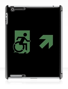Accessible Exit Sign Project Wheelchair Wheelie Running Man Symbol Means of Egress Icon Disability Emergency Evacuation Fire Safety iPad Case 135
