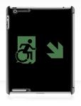 Accessible Exit Sign Project Wheelchair Wheelie Running Man Symbol Means of Egress Icon Disability Emergency Evacuation Fire Safety iPad Case 136