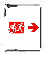 Accessible Exit Sign Project Wheelchair Wheelie Running Man Symbol Means of Egress Icon Disability Emergency Evacuation Fire Safety iPad Case 137