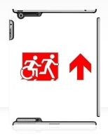 Accessible Exit Sign Project Wheelchair Wheelie Running Man Symbol Means of Egress Icon Disability Emergency Evacuation Fire Safety iPad Case 138