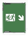 Accessible Exit Sign Project Wheelchair Wheelie Running Man Symbol Means of Egress Icon Disability Emergency Evacuation Fire Safety iPad Case 14