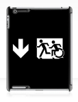 Accessible Exit Sign Project Wheelchair Wheelie Running Man Symbol Means of Egress Icon Disability Emergency Evacuation Fire Safety iPad Case 140