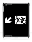 Accessible Exit Sign Project Wheelchair Wheelie Running Man Symbol Means of Egress Icon Disability Emergency Evacuation Fire Safety iPad Case 141