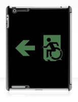 Accessible Exit Sign Project Wheelchair Wheelie Running Man Symbol Means of Egress Icon Disability Emergency Evacuation Fire Safety iPad Case 143