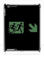 Accessible Exit Sign Project Wheelchair Wheelie Running Man Symbol Means of Egress Icon Disability Emergency Evacuation Fire Safety iPad Case 144