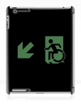 Accessible Exit Sign Project Wheelchair Wheelie Running Man Symbol Means of Egress Icon Disability Emergency Evacuation Fire Safety iPad Case 145