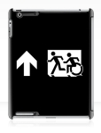 Accessible Exit Sign Project Wheelchair Wheelie Running Man Symbol Means of Egress Icon Disability Emergency Evacuation Fire Safety iPad Case 146