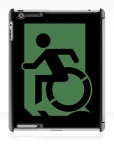 Accessible Exit Sign Project Wheelchair Wheelie Running Man Symbol Means of Egress Icon Disability Emergency Evacuation Fire Safety iPad Case 147