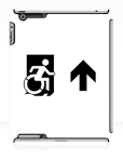 Accessible Exit Sign Project Wheelchair Wheelie Running Man Symbol Means of Egress Icon Disability Emergency Evacuation Fire Safety iPad Case 148