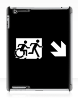 Accessible Exit Sign Project Wheelchair Wheelie Running Man Symbol Means of Egress Icon Disability Emergency Evacuation Fire Safety iPad Case 149