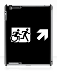Accessible Exit Sign Project Wheelchair Wheelie Running Man Symbol Means of Egress Icon Disability Emergency Evacuation Fire Safety iPad Case 150