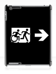 Accessible Exit Sign Project Wheelchair Wheelie Running Man Symbol Means of Egress Icon Disability Emergency Evacuation Fire Safety iPad Case 151