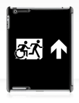 Accessible Exit Sign Project Wheelchair Wheelie Running Man Symbol Means of Egress Icon Disability Emergency Evacuation Fire Safety iPad Case 152