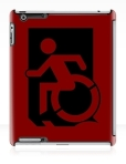 Accessible Exit Sign Project Wheelchair Wheelie Running Man Symbol Means of Egress Icon Disability Emergency Evacuation Fire Safety iPad Case 153