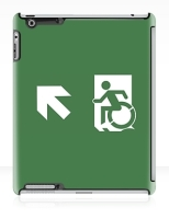 Accessible Exit Sign Project Wheelchair Wheelie Running Man Symbol Means of Egress Icon Disability Emergency Evacuation Fire Safety iPad Case 154