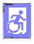 Accessible Exit Sign Project Wheelchair Wheelie Running Man Symbol Means of Egress Icon Disability Emergency Evacuation Fire Safety iPad Case 155
